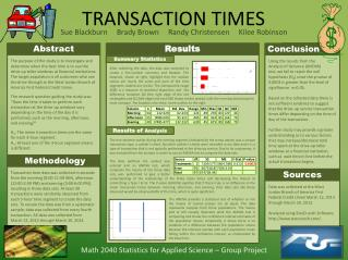 TRANSACTION TIMES