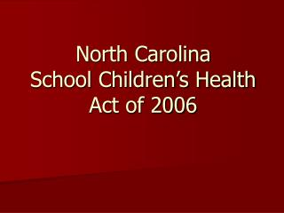 North Carolina School Children