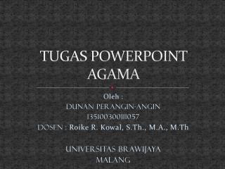 TUGAS POWERPOINT AGAMA
