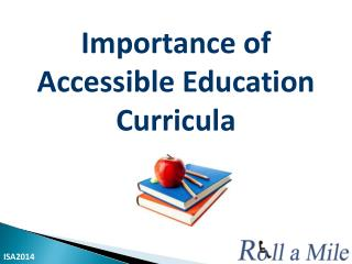 Importance of  Accessible  Education Curricula