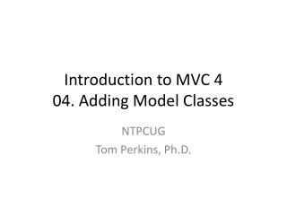Introduction to MVC 4 04. Adding Model Classes