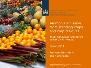 Ammonia emission from standing crops and crop residues