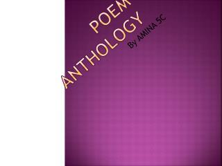 POEM  anthology