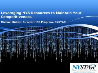 Leveraging NYS Resources to Maintain Your Competitiveness.