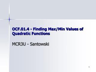 OCF.01.4 - Finding Max