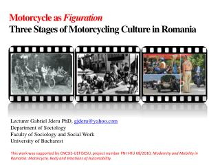 Motorcycle as  Figuration Three Stages of Motorcycling Culture in Romania
