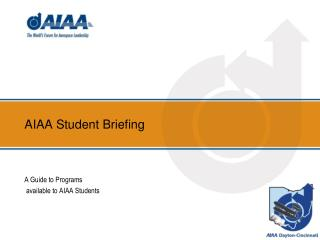 AIAA Student Briefing