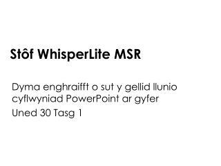 St�f WhisperLite MSR
