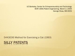 Silly Patents