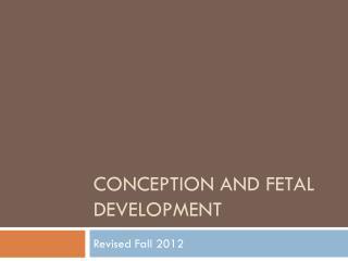 Conception and Fetal Development