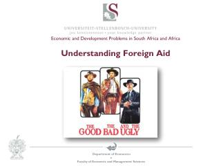 Economic and Development  Problems in South Africa and Africa Understanding Foreign Aid