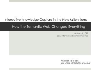 How the Semantic Web Changed Everything