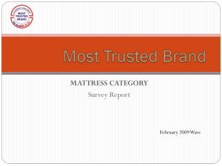 MATTRESS CATEGORY  Survey Report