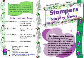 Stompers Nursery News
