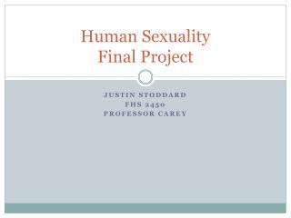 Human Sexuality  Final Project