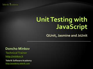 Unit Testing with JavaScript