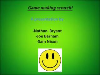 Game  making  scratch!