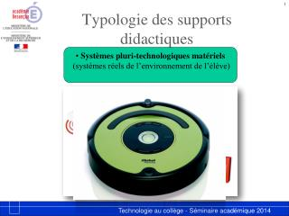 Typologie des supports didactiques