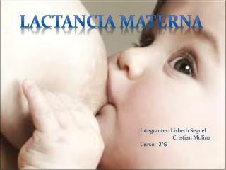Integrantes: Lisbeth Seguel                       Cristian Molina Curso:   2°G
