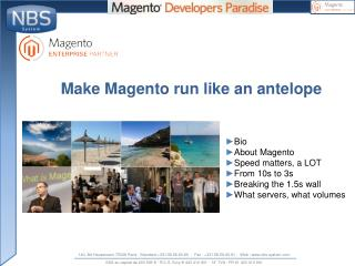 Make  Magento  run like  an  antelope