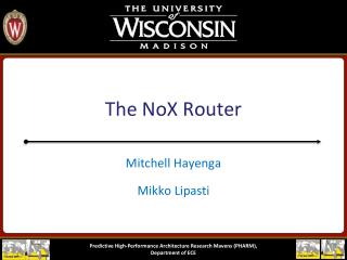 The  NoX  Router