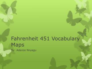 Fahrenheit 451 Vocabulary Maps