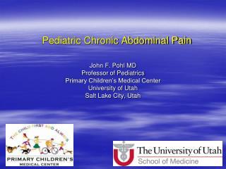 Pediatric Chronic Abdominal Pain