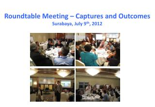 Roundtable Meeting – Captures and Outcomes  Surabaya, July 9 th , 2012