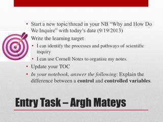 Entry Task – Argh  Mateys