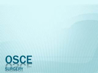 OSCE Surgery
