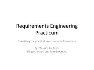 Requirements Engineering Practicum