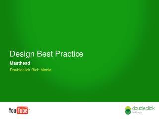 Design Best Practice