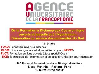 Br�viaire FOAD:  Formation ouverte � distance