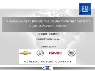 Aligning Minority Supplier Development with the Corporate Strategic Planning Process