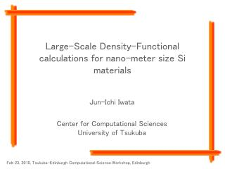 Large-Scale Density-Functional calculations for nano-meter size Si materials