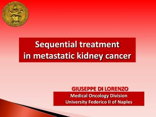 Sequential  treatment  in  metastatic kidney cancer
