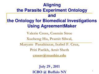 Valerie Cross,  Cosmin Stroe Xueheng Hu ,  Pramit Silwal ,  Maryam Panahiazar , Isabel F. Cruz,