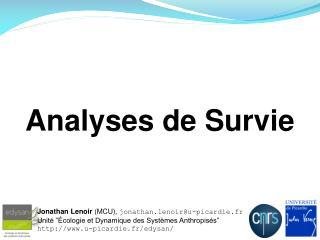 Analyses de Survie
