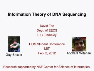 Information Theory of DNA Sequencing