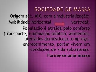 Sociedade de massa