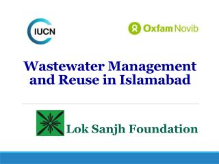 Wastewater Management and Reuse in Islamabad