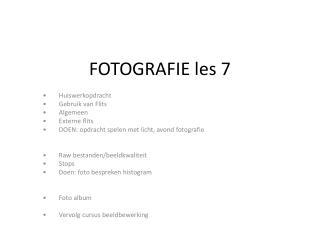 FOTOGRAFIE les 7