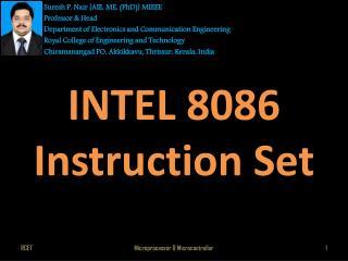 INTEL  8086 Instruction Set