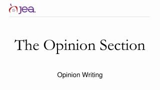 The Opinion Section