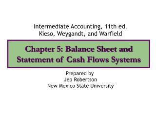 Chapter 5: Balance Sheet  Cash Flows