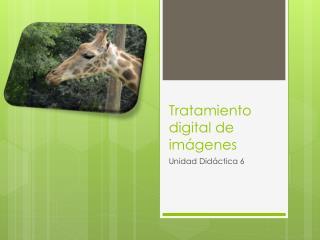 Tratamiento digital de imágenes