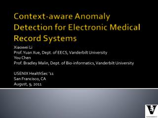 Context-aware Anomaly Detection for Electronic Medical Record Systems