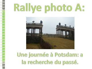 Rallye photo A: