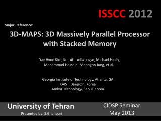 3D-MAPS: 3D Massively Parallel  Processor with Stacked  Memory