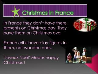 Fr Christmas in France